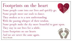 footprints on heart